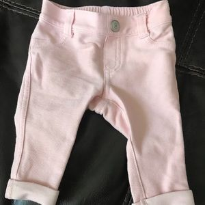 Old Navy pink jeggings 0-3 months